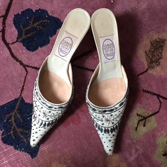 e6d5bec9f015 Emma Hope Shoes | Sparkly Kitten Heel Mules | Poshmark